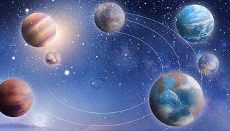 太阳星系图片