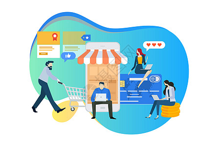 双十一购物节电商网上购物促销图片