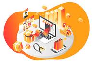 2.5D双十一购物节电商网上购物促销图片