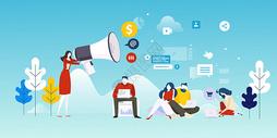 年轻生活社交媒体营销图片