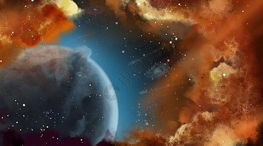 宇宙行星背景素材图片