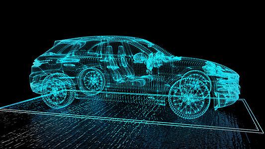 科幻汽车场景图片