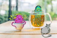 茶杯水母图片
