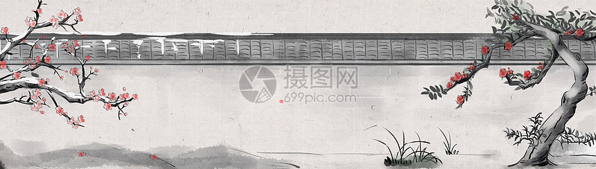 墙边腊梅花图片