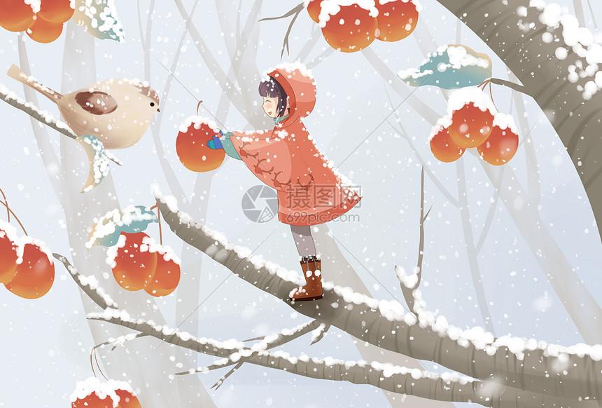 冬天插画图片
