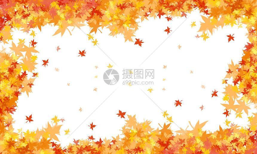秋天手绘枫叶背景图片