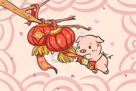 猪年红灯笼图片