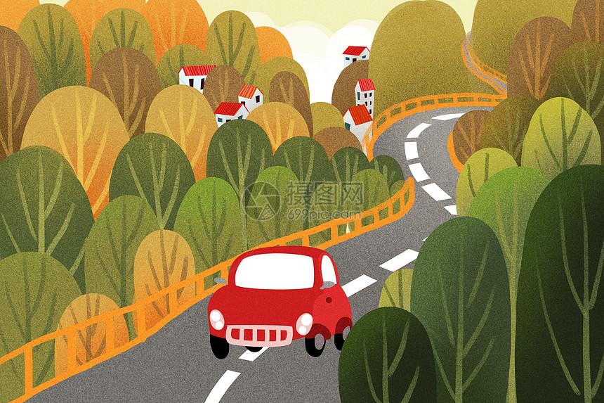 旅途秋景图片