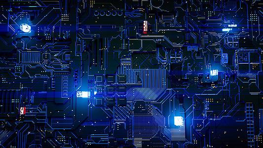 科技电路芯片图片