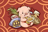 猪年的春卷图片