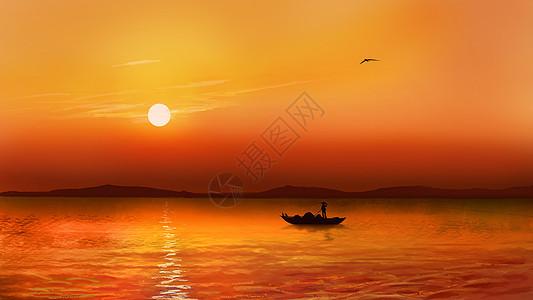 夕阳之美图片