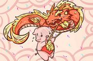猪年的舞龙图片