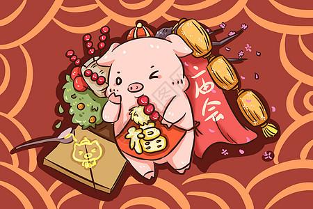 猪年逛庙会图片