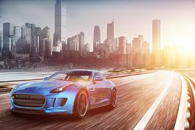 炫酷汽车赛道场景图片