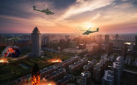 城市战争场景图片