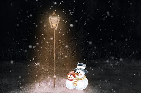 立冬的夜晚图片