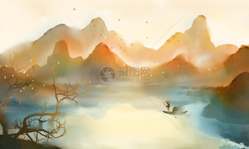 中国风插画图片