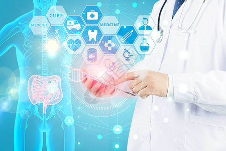 专业人员基因检测人体图片