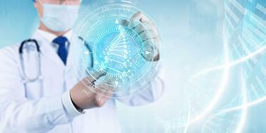 医疗人员基因检测人体健康引领未来图片