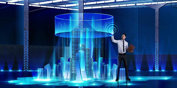 智能科技城市图片