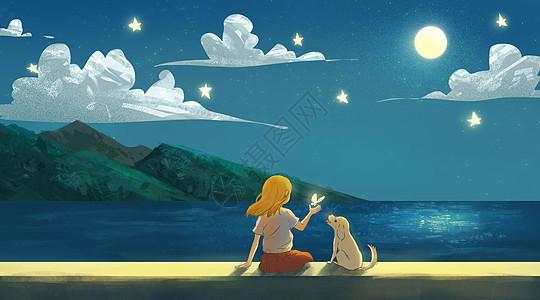 海边的夜晚图片