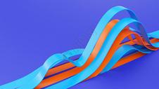 3D几何波浪图片