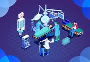 25D未来医疗立体插画图片