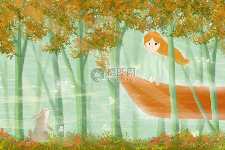 仙子唯美插画图片