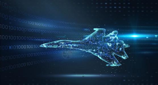 智能战斗机科技图片
