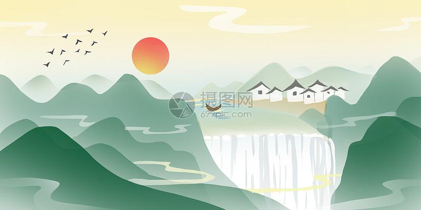 中国山水画图片