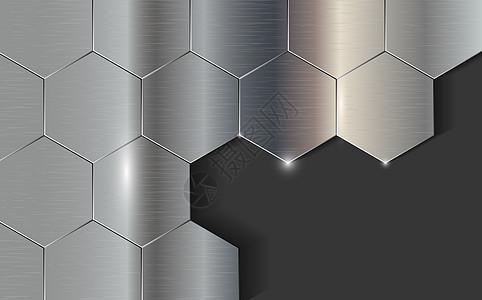 六角形金属纹路图片