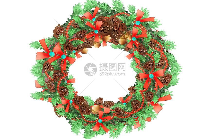 圣诞花环图片