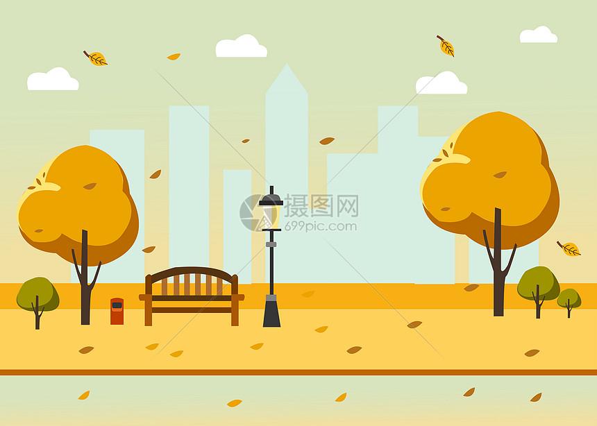 秋天的城市图片