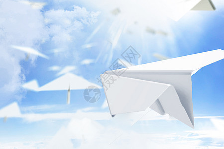 纸飞机创意梦想图片