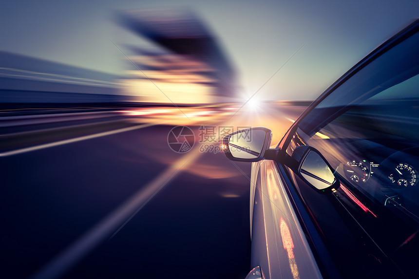 汽车速度感光束图片