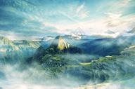 梦幻山脉场景图片
