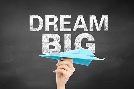 创意纸飞机梦想图片