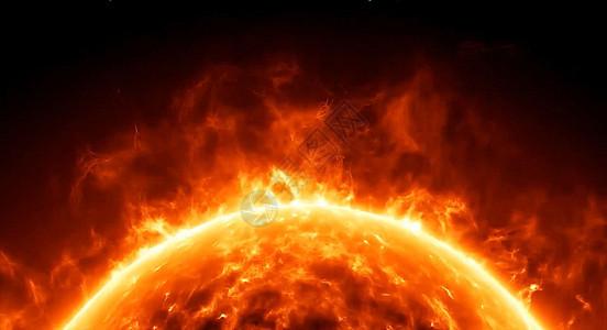 大气火焰地球图片