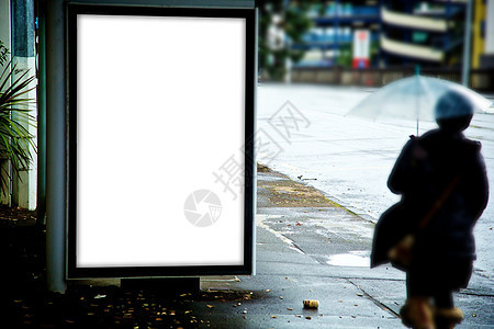 现代站牌样机图片