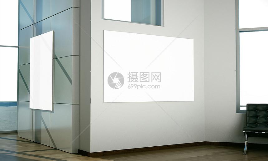 现代室内挂画样机图片