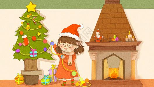 手绘圣诞节插画图片