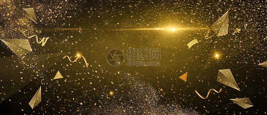 金色大气展板图片