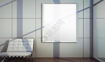 现代墙壁画框样机图片