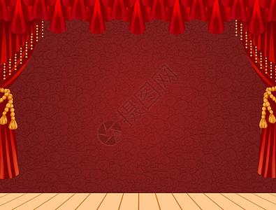 舞台幕布图片