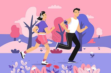 运动的人图片