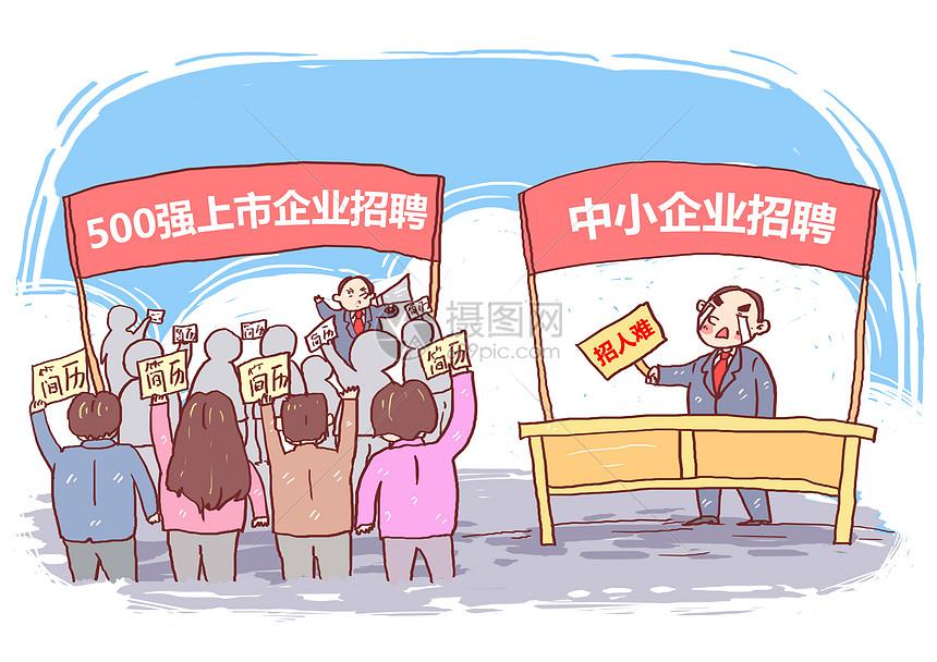企业招聘漫画图片