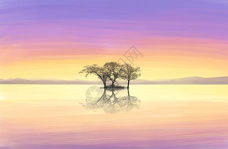 夕阳美景图片