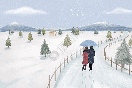 冬天出行图片