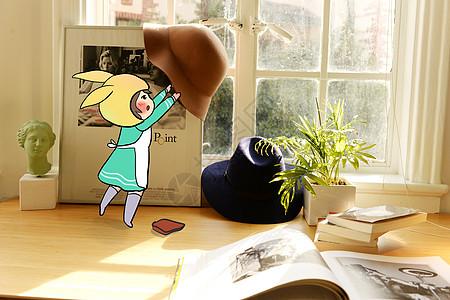 卡通生活场景配图图片