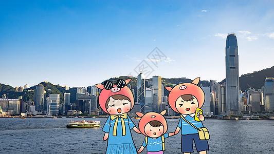 快乐一家人旅行图片
